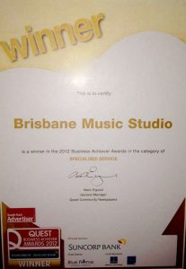 quest-business-achiever-award-brisbane-music-studio
